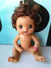 Hasbro Baby Alive Dark Skin Hispanic Latin Doll Nude Working NEED TLC