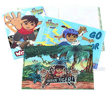 Go Diego Go File Jacket Clear Folder 4PC Stationery Set
