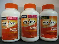 3 ONE A DAY WOMEN'S Formula Multivitamin 200ct Tablets Each Exp 9/16 DE 5353