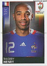 N°355 VIGNETTE PANINI THIERRY HENRY FRANCE EURO 2008  STICKER