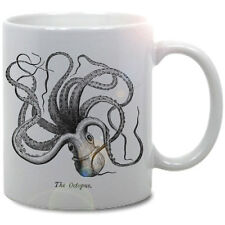VINTAGE OCTOPUS COFFEE MUG! nautical ocean antique modern sea pirate chic shabby