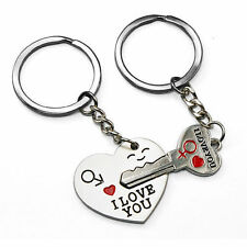 Romantic Gift For Her Him I Love You Keyring Heart Key Lover Couple Valentines
