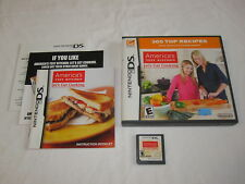 America's Test Kitchen: Let's Get Cooking (Nintendo DS) Complete Nr Mint!