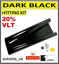 CAR WINDOW TINT FILM TINTING DARK BLACK  SMOKE 20% 76cm x 3M NEW