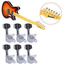 6pcs Guitar String Tuning Pegs Locking Tuners Keys Machine Heads Chrome