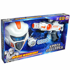 Galatic Space Trooper Set With Warrior Mask Energy Blaster And Wrist Shooter