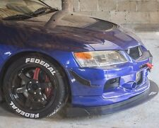 Mitsubishi Lancer Evo Front Bumper CARBON FIBRE Canards to fit most Bumpers v4