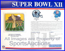 SUPER BOWL 12 Cowboys  Broncos 1978 Willabee Ward OFFICIAL SB XII NFL PATCH CARD
