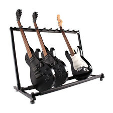 9 Guitar Folding Rack Storage Organizer Stand Holder Electric Acoustic Bass YKS