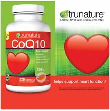 New ! 2 x 220 Softgels Trunature CoQ10 100mg Heart Cellular Energy Support