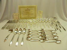 57pc  HARMONY HOUSE SILVERPLATE Flatware Set  / SERVICE FOR 8+  R. WALLACE & SON