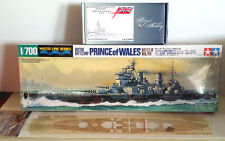 1/700 Tamiya HMS Prince of Wales + Artist Hobby Detail Set + Hunter Wood Deck