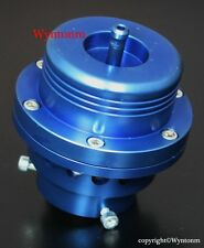 Turbo Piston Type BOV Blow off Valve + Aluminum & Mild Steel Weld Flange XS Blue