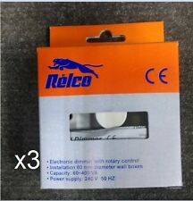 3x Dimmer 1G 2W 400W Relco Dimmer RM0911/RTS80HD Suitable For Low Voltage Dimmin