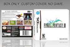 NINTENDO DS : FINAL FANTASY 3. UNOFFICIAL COVER. ORIGINAL BOX. NO GAME. ENGLISH