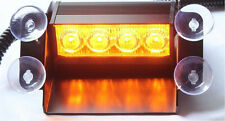 4 LED Car Strobe Warning light Truck Emergency Flashing Windshield Light Amber