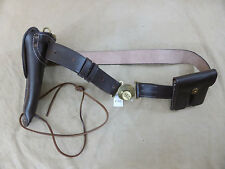 US ARMY WW2 SET Leather Belt Holster Colt M1911 Lederholster Magazintasche