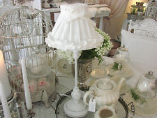 Lampe komplett*Clayre&Eef*Shabby*Landhaus*Romantik*Nostalgie*Deko*Weiß*