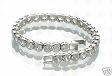 "Steel by Design Crystal Tennis Bracelet 7-1/4"" L"