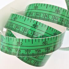 "60"" Green Self Adhesive Vinyl Measuring Tape / Ruler Sticker Stickymeasure"