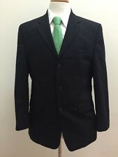 $698 Calvin Klein Men's Black Canadian 100% Pure New Wool Suit Size 38R 32x30