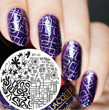 BORN PRETTY Nail Art Stamping Plate Mixed Abstract Lines Image Template BP42