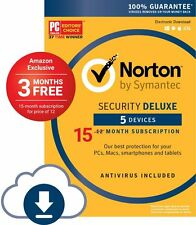 Norton Security Deluxe  5 Device 15 Months protection