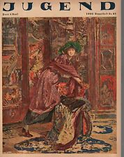 1921 Jugend May 23 German Art Nouveau Cover -Woman amidst tapestries