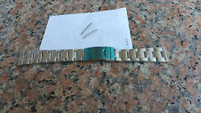 NEW 20mm Heavy Brushed Double Lock Clasp Stainless Steel Watch Band Bracelet