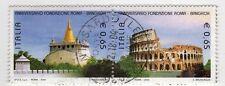 ITALIA 2004 DITTICO ROMA-BANGKOK 2V USATO