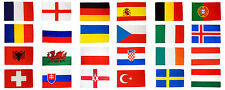 Euro 2016 Flags Set Large 5 x 3 FT - Full Pack All 24 Countries European Uefa IE