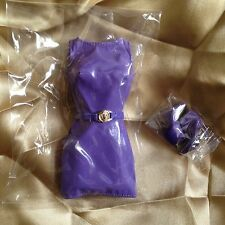 Fashion Royalty Supermodel Glamazon Adele Doll Purple Dress w/ booties
