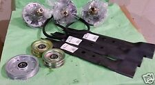 "John Deere L130 48"" Mower Deck Parts Rebuild Kit Spindles, Blades, Belts, Idlers"