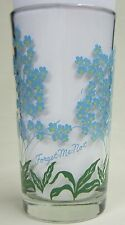 Forget-Me-Not Peanut Butter Glass Glasses Drinking Kitchen Mauzy 58-8