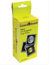 10 Guardhouse 2x2 Tetra Snaplock Coin Holders for Large Dollar 38.1mm