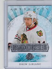 12-13 2012-13 ARTIFACTS DREW LeBLANC ROOKIE /999 204 REDEMPTION BLACKHAWKS