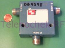RF microwave single junction circulator 473 MHz CF/  105 MHz BW/  50 Watt/ data