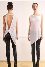 Helmut Lang Threadbare T Twist Sheer Assymetric Top Small NWT $185