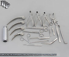 29 PCS SET SURGICAL VETERINARY DIAGNOSTIC SURGERY INSTRUMENTS