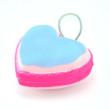 Love Heart Cute Soft Macaron Squishy Cell Phone Strap Charm Key Chain 1PCS