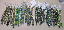 25 Jesse James Bead Strands Mostly Blues and Greens Mixed Colors NEW