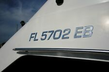 Boat Registration Numbers Domed Numbers Raised Decal SURF Series Chrome