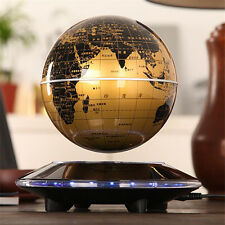 6  Gold/Black Levitation Magnetic Rotating Globe Lon Floating Levitating Earth