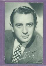 1950'S EXHIBIT SUPPLY ARCADE CARD ACTOR MACDONALD CAREY VG/EX DAYS OF OUR LIVES