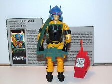 1988 GI JOE LIGHTFOOT v1 100% COMPLETE w/ FILECARD C9+ - HASBRO