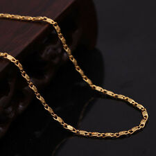 Best Stylish Simple Yellow Gold Plating Rolo Tile Chain Necklace DIY Accessories