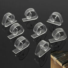 8Pcs Pinces Fixe Nappe Accroche Attache Serre Clip Transparent Table Universel