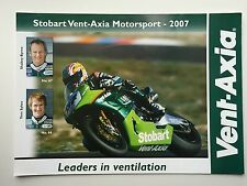 Tom Sykes and Shane Byrne Hand Signed Stobart Vent-Axia Poster BSB 2.