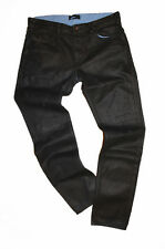 DIESEL BLACK GOLD EXCESS-NP-FS BLACK COATED JEANS W32 100% AUTHENTIC