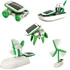 Innovative Ideas 6 in 1 Solar DIY Educational Kit Toy Boat Fan Car Robot TOY